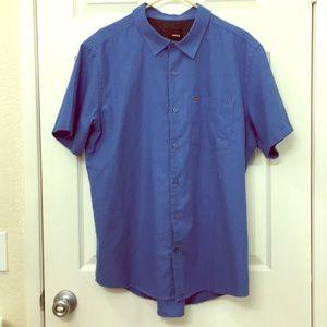 Hurley Soft Cotton Short Sleeve Button Up Shirt